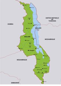 Landkarte Malawisee